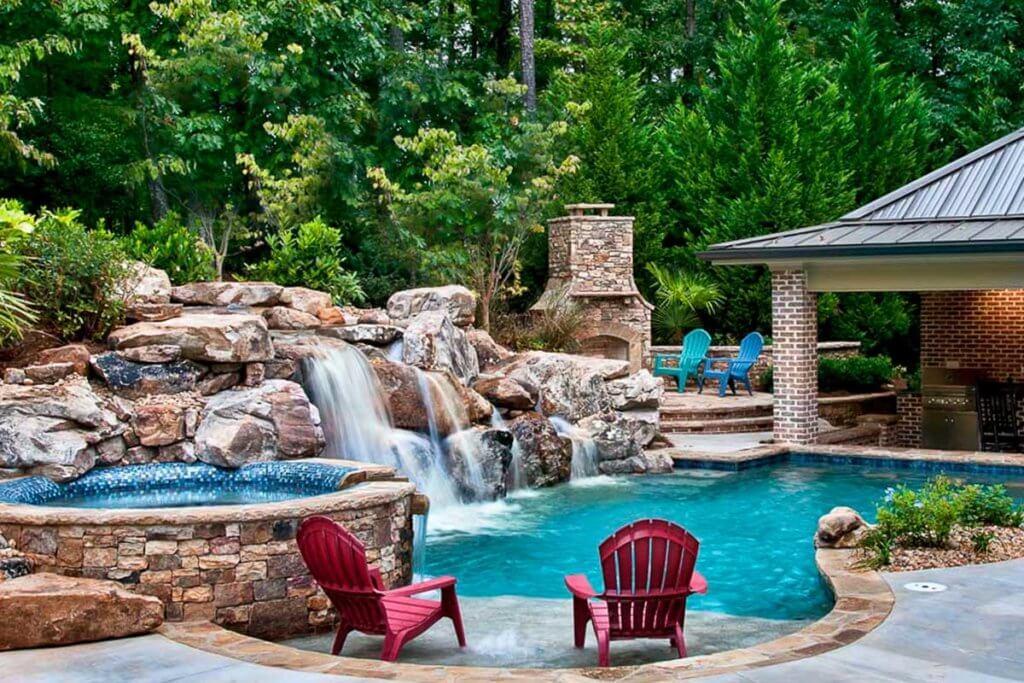 Custom Water Fall / Outdoor Spa
